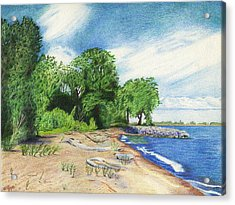 Acrylic Print featuring the drawing Old Woman Creek - Huron Ohio by Shawna Rowe
