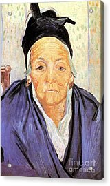 Old Woman Of Arles An Acrylic Print by Vincent Van Gogh