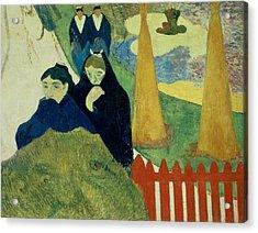 Old Women Of Arles Acrylic Print by Paul Gauguin