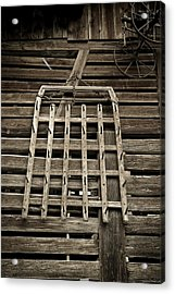 Old Wood Barn Detail Acrylic Print by Frank Tschakert