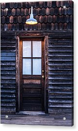 Old Wood Door And Light Acrylic Print by Terry DeLuco