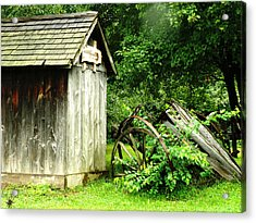 Old Wood Shed Acrylic Print by Scott Hovind