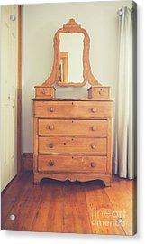 Old Wooden Dresser Acrylic Print