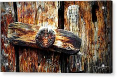 Old Wooden Latch Acrylic Print