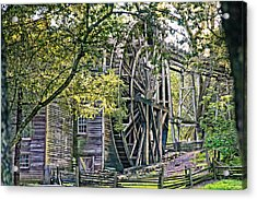 Acrylic Print featuring the photograph Old Wooden Mill by Kim Wilson