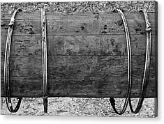 Old Wooden Pipe Acrylic Print