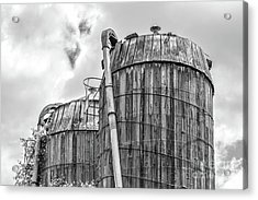 Old Wooden Silos Ely Vermont Acrylic Print