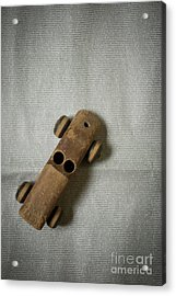 Acrylic Print featuring the photograph Old Wooden Toy Car Still Life by Edward Fielding