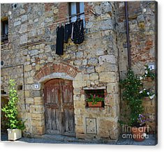 Acrylic Print featuring the photograph Old World Door by Frank Stallone