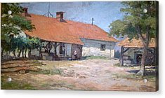 Acrylic Print featuring the mixed media Old  World Slovenian Farmhouse by Sherri  Of Palm Springs