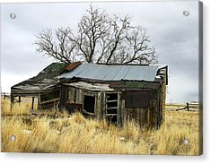 Old Wyoming Farmhouse Acrylic Print