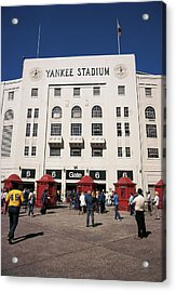 Old Yankee Stadium Last Game Acrylic Print by Paul Plaine