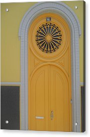 Old Yellow Door Acrylic Print