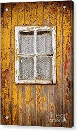 Old Yellow Door Acrylic Print by Carlos Caetano