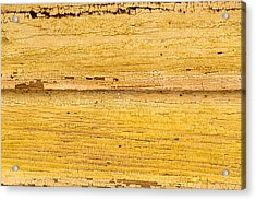 Acrylic Print featuring the photograph Old Yellow Paint On Wood by John Williams