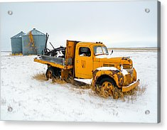 Old Yellow Acrylic Print by Todd Klassy