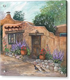 Acrylic Print featuring the painting Old Adobe Cottage by Marilyn Smith