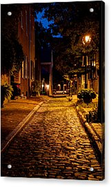 Olde Town Philly Alley Acrylic Print by Mark Dodd
