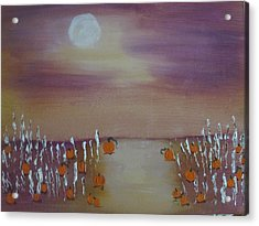 Olde Tyme Pumpkin Patch And Maze Acrylic Print by Sharyn Winters