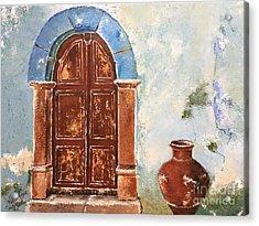 Oldness Of Chios Acrylic Print by Viktoriya Sirris