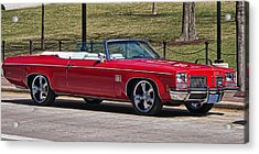 Oldsmobile Delta Royale 88 Red Convertible Acrylic Print
