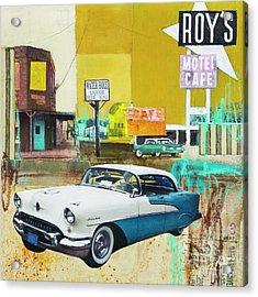 Oldsmobile Acrylic Print by Elena Nosyreva