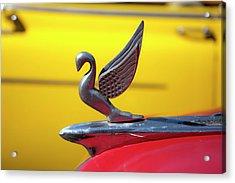Oldsmobile Packard Hood Ornament Havana Cuba Acrylic Print by Charles Harden
