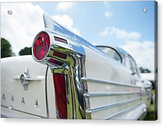 Oldsmobile Tail Acrylic Print by Helen Northcott