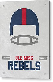Ole Miss Rebels Vintage Football Art Acrylic Print by Joe Hamilton
