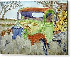 Ole Rusty Green Acrylic Print by Ron Stephens
