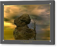 Acrylic Print featuring the digital art Olim - Quondam - Surrealism by Sipo Liimatainen