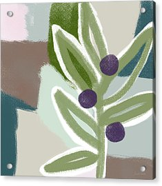 Olive Branch 2- Art By Linda Woods Acrylic Print