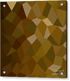 Olive Drab Abstract Low Polygon Background Acrylic Print by Aloysius Patrimonio