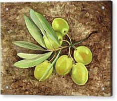 Olive Acrylic Print by Guido Borelli