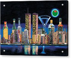 Olive Ny Acrylic Print by Tim Williams