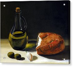 Olive Oil And Bread Acrylic Print