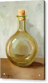 Olive Oil Bottle Still Life  Acrylic Print by Joni Dipirro
