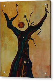 Acrylic Print featuring the painting Olive Tree Woman by Pat Purdy