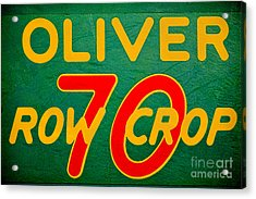 Oliver 70 Row Crop Acrylic Print by Olivier Le Queinec