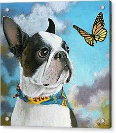 Oliver - Dog Pet Portrait Acrylic Print