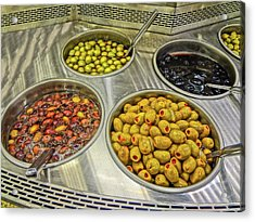 Olives Acrylic Print by Bruce Iorio