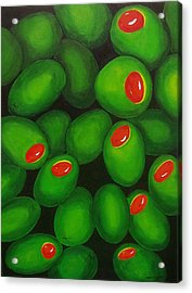 Olives Acrylic Print by Micah  Guenther