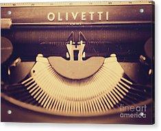 Olivetti Typewriter Acrylic Print