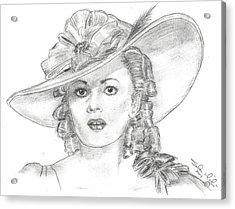 Olivia De Havilland Acrylic Print