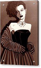 Olivia In Sepia Tone Acrylic Print by Tara Hutton