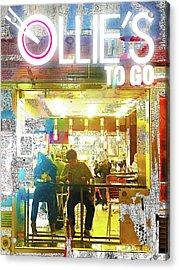 Acrylic Print featuring the mixed media Ollie's by Tony Rubino