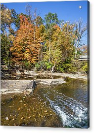 Acrylic Print featuring the photograph Olmsted Falls Autumn Spendor by Lon Dittrick