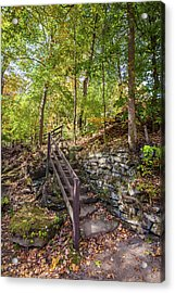 Acrylic Print featuring the photograph Olmsted Falls Staircase by Lon Dittrick