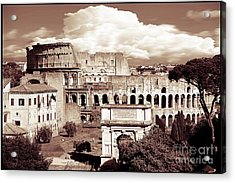 Colosseum From Roman Forums  Acrylic Print