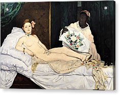 Olympia Acrylic Print by Edouard Manet